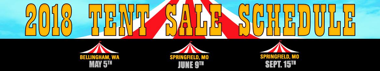 2018 tent sales