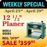 This Weeks Featured Special - G0505