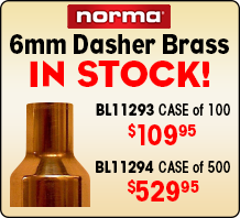 6mm Dasher Brass in Stock