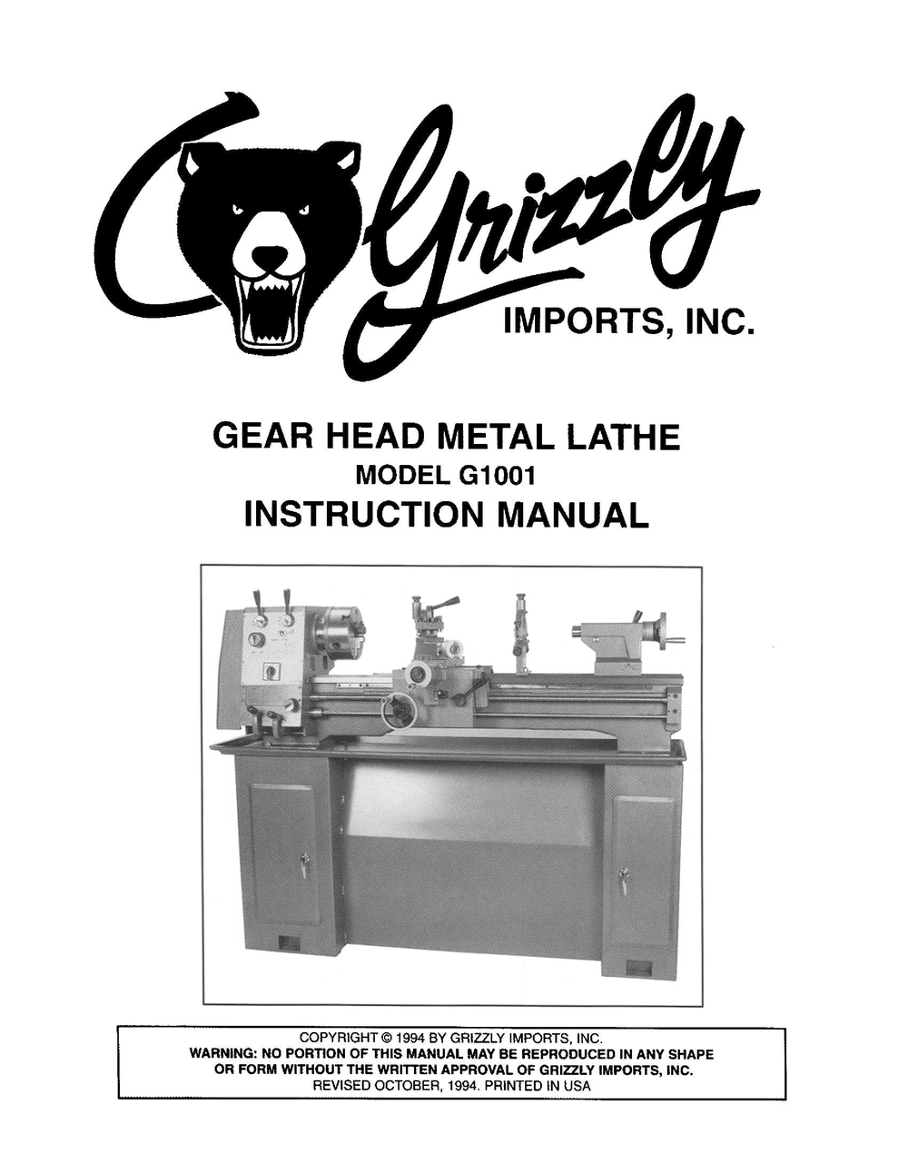 grizzly machine parts
