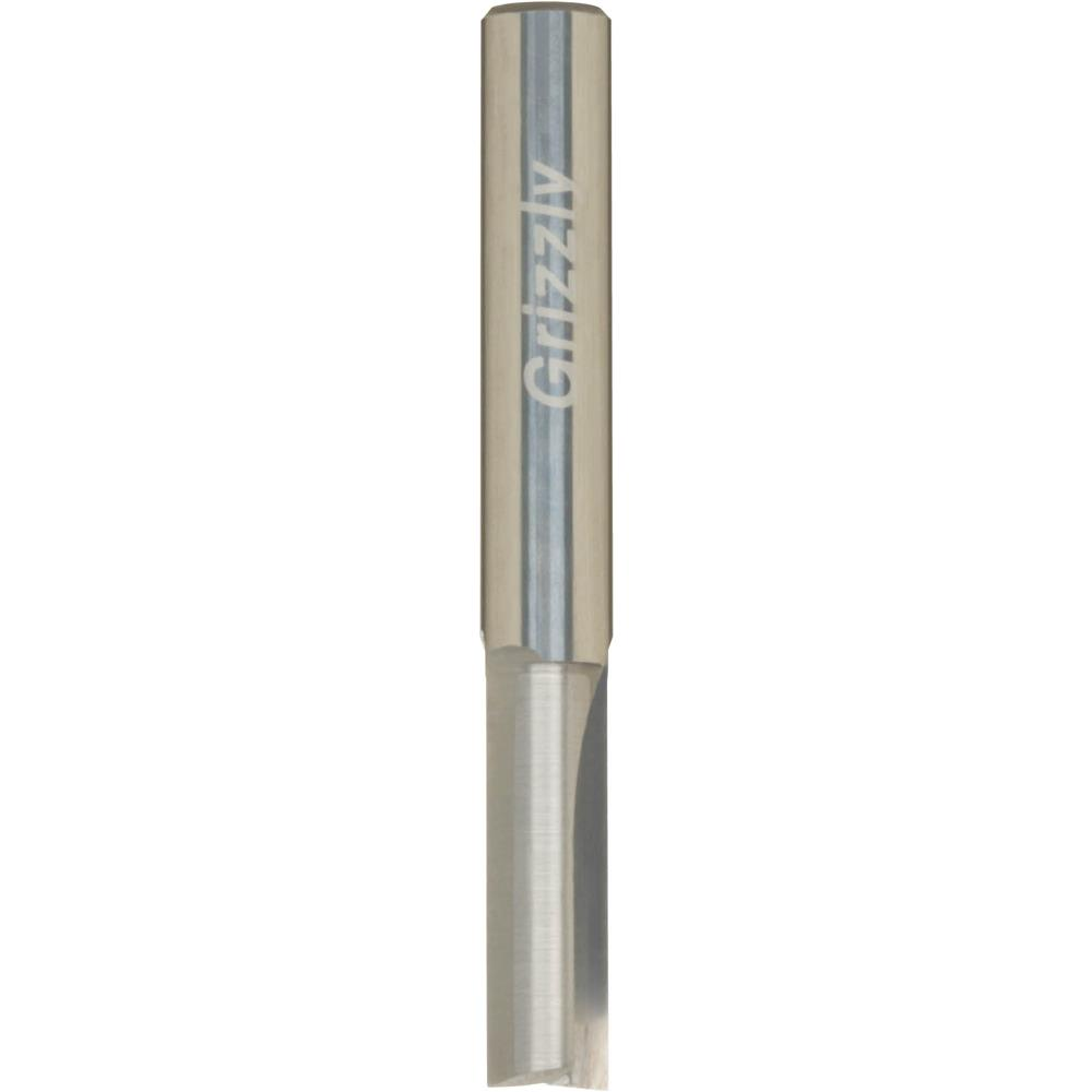 """Grizzly Solid Carbide Straight Bit, 1/4"""" Shank"""