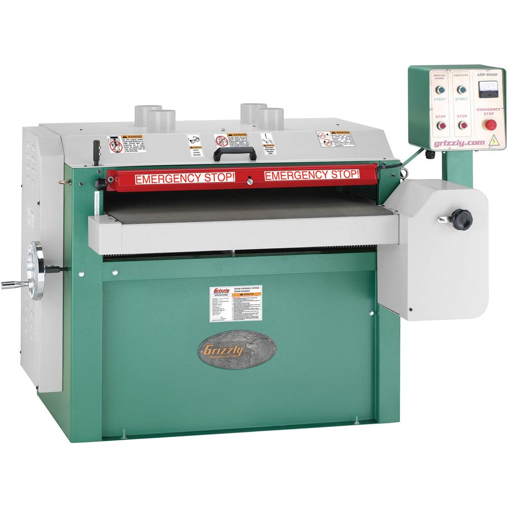 "Grizzly 37"" Drum Sander, 10 HP Single-Phase at Sears.com"