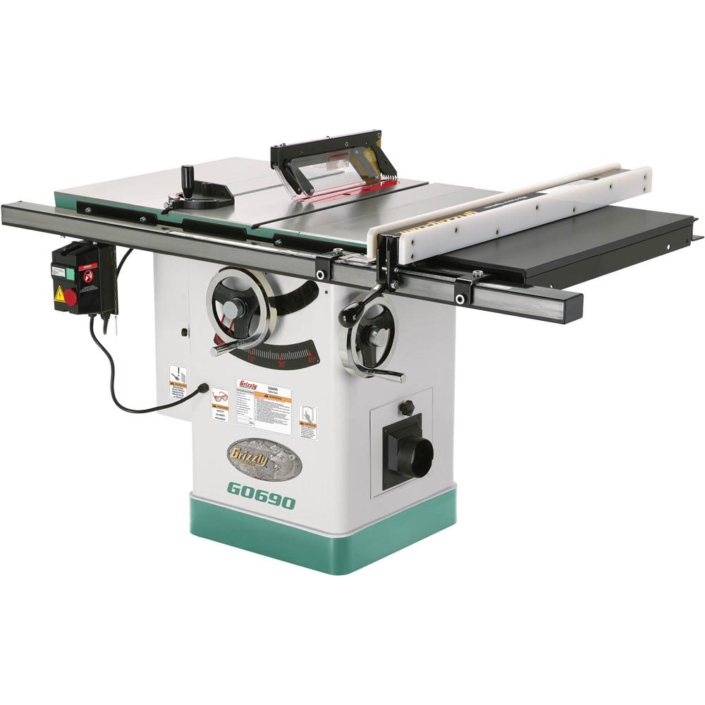 "Grizzly 10"" 3HP 220V Cabinet Table Saw with Riving Knife at Sears.com"