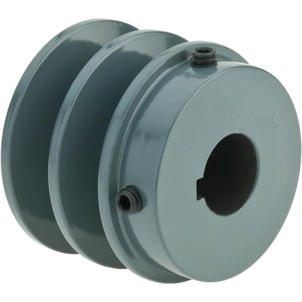 "Grizzly Double V-Groove Pulley - 2"" Pitch Dia., 3/4"" Bore at Sears.com"