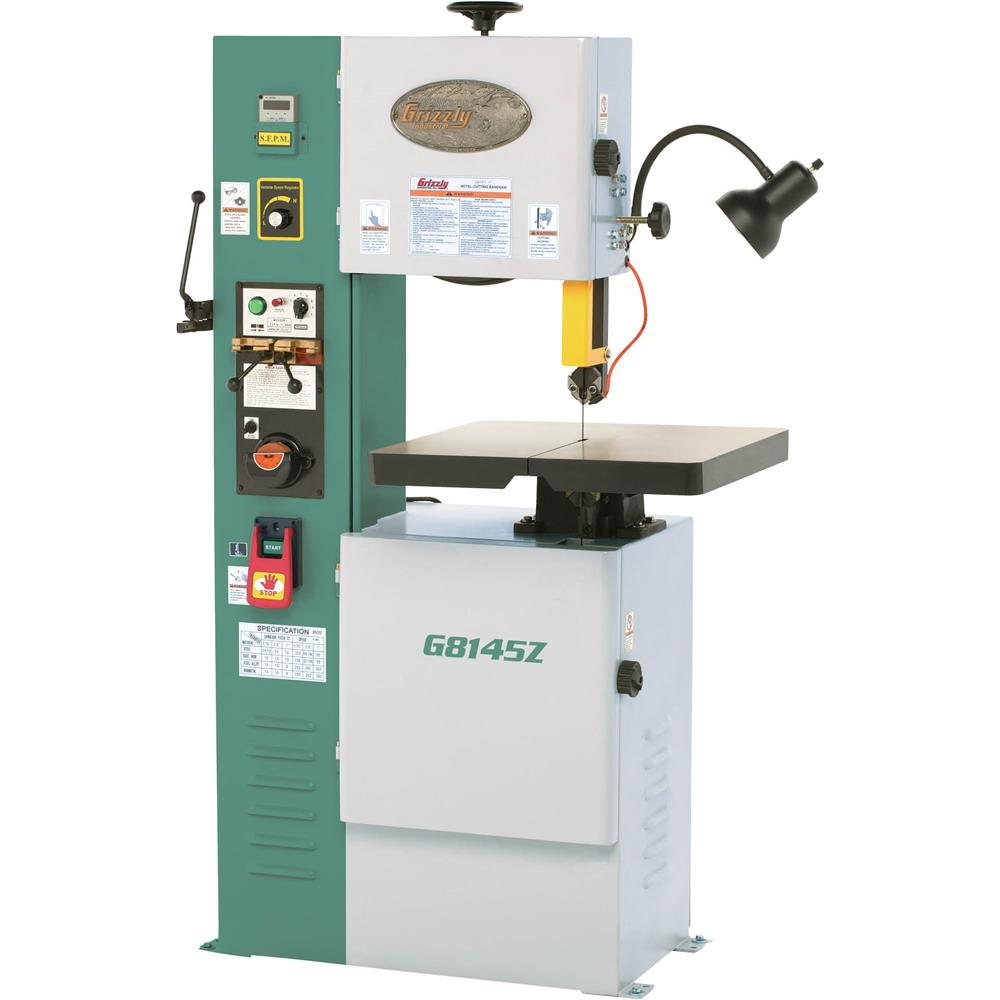 "Grizzly 14-1/8"" VS Vertical Metal-Cutting Bandsaw with Inverter at Sears.com"