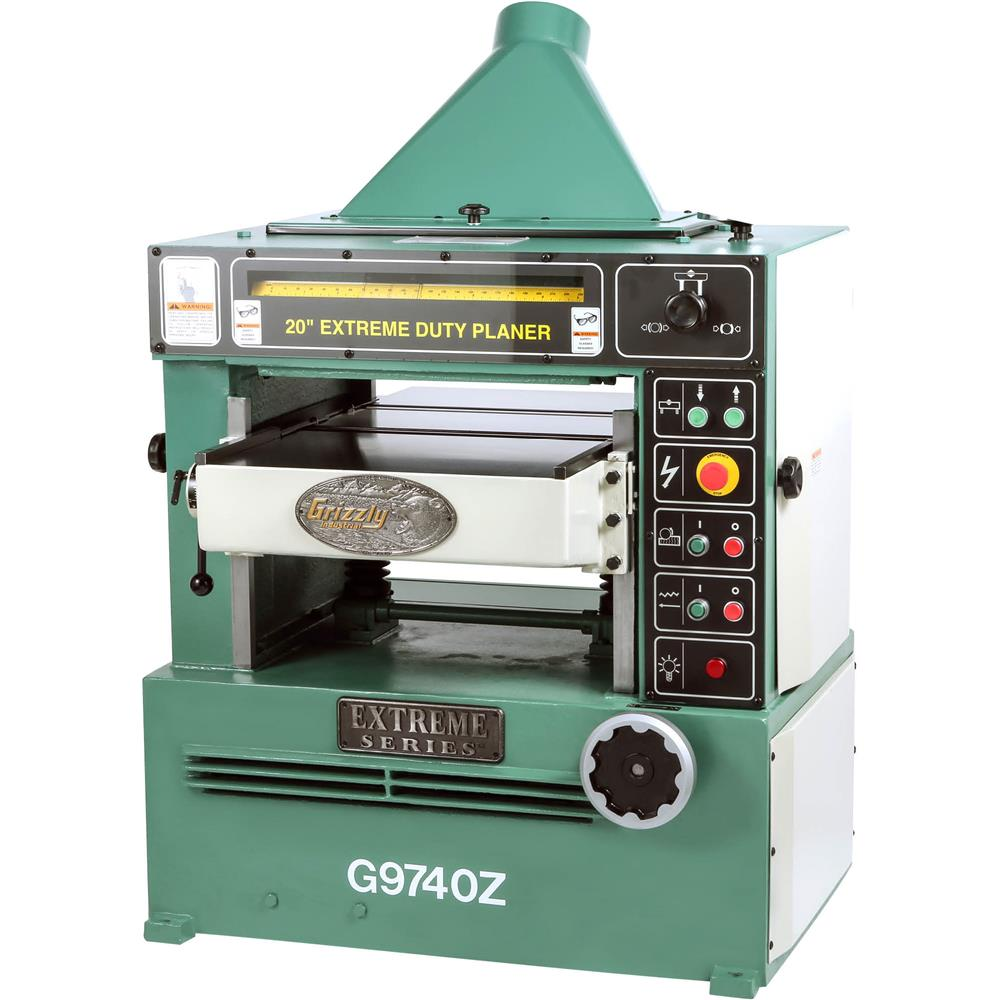 "Grizzly 20"" Planer w/ 7-1/2 HP 3-Phase Motor & Spiral Cutterhead at Sears.com"
