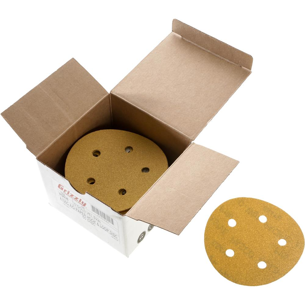 "Grizzly 5"" Sanding Disc, A100-C H&L 5 Hole, 50 pc. at Sears.com"