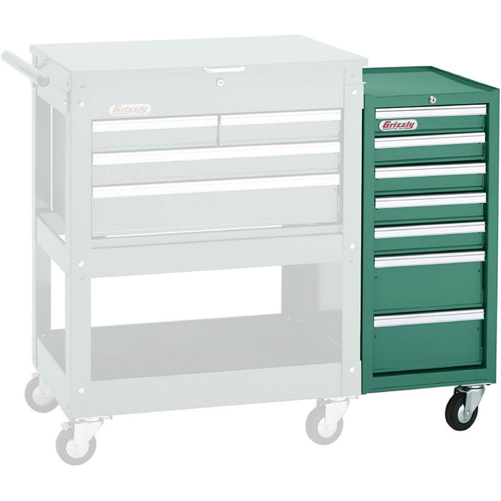 h7729 grizzly 7 drawer side tool cabinet ebay. Black Bedroom Furniture Sets. Home Design Ideas