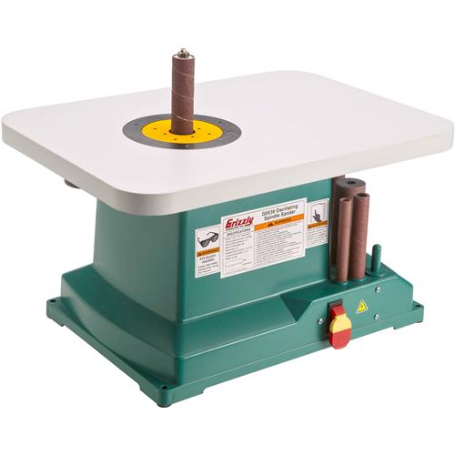 G0538 Grizzly 1 3 Hp Benchtop Oscillating Spindle Sander New Ebay
