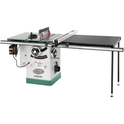 10 3hp 220v cabinet table saw with long rails riving