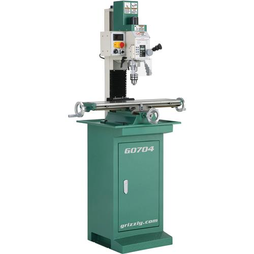 G0704 Grizzly Mill / Drill With Stand, DRO On Spindle, 1