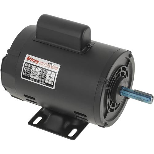 g2902 grizzly motor 1 2 hp single phase 3450 rpm open 110v