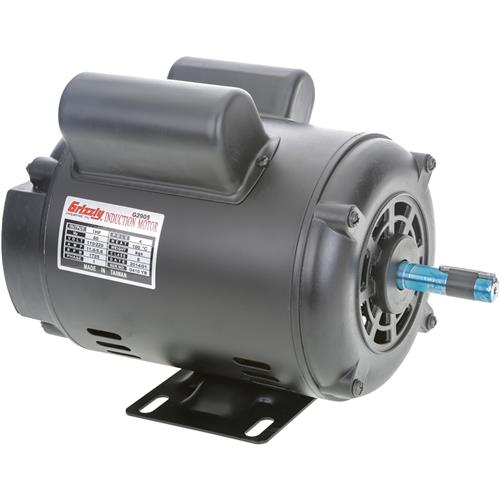 G2905 grizzly motor 1 hp single phase 1725 rpm open 110v for 1hp single phase motor