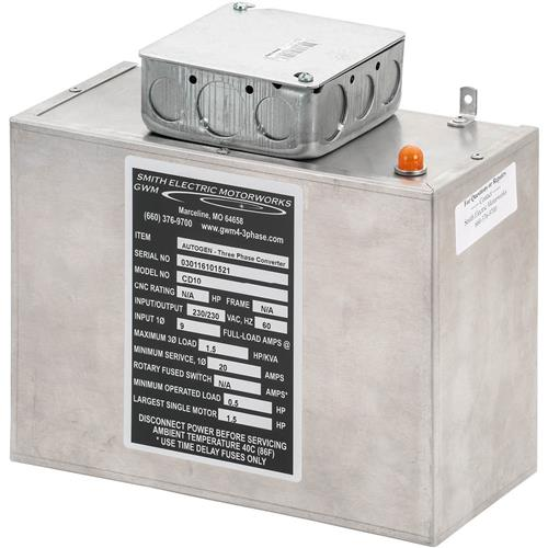 Static Phase Converter  2 To 1 2 Hp