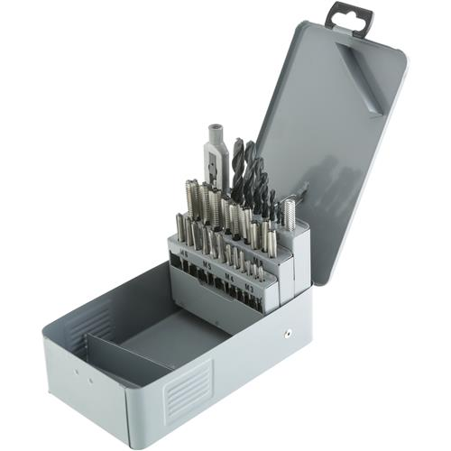 Pc hss drill tap set metric grizzly industrial