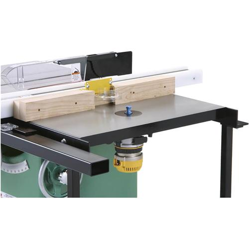 Extension table for grizzly g0715p woodworking talk woodworkers just plug the hole with a plastic insert and if you never add a router no big deal it will be a nice quality cast iron extension smile3 greentooth Choice Image