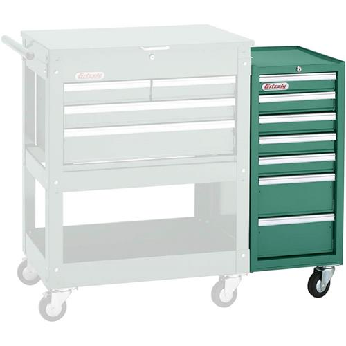 7 Drawer Side Tool Cabinet Grizzly Industrial