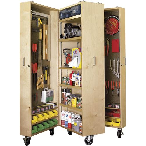 Mobile tool cabinet plans grizzly industrial for Cabinet design tool