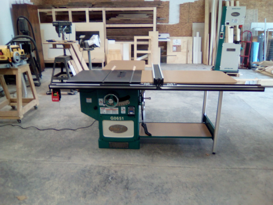 10 heavy duty cabinet table saw with riving knife grizzly im happy with the unit also bought a 17 band saw waiting for time to wire it up and an 8 jointer back ordered very pleased i chose grizzly greentooth Choice Image