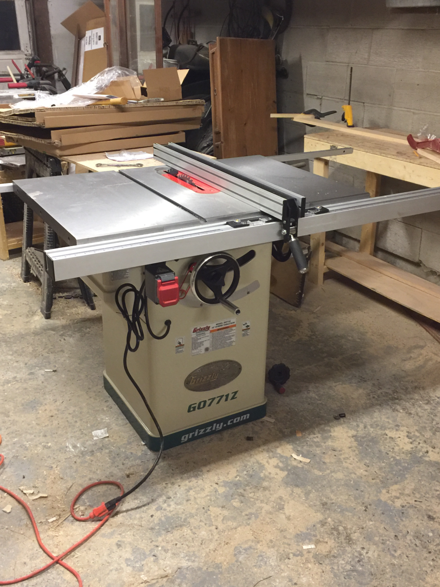10 hybrid table saw with t shaped fence grizzly industrial view all customer images greentooth