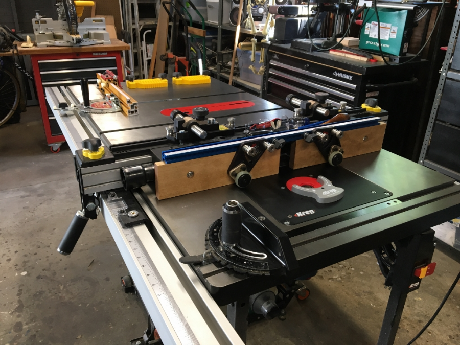 10 hybrid table saw with t shaped fence grizzly industrial and also needed to order a couple of things for the saw and the customer service is simply first rate check out the pics of my souped up fence greentooth Gallery