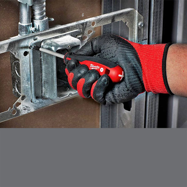 Clamps, rathets, tinners, snips, and other hand tools from Milwaukee Tools.