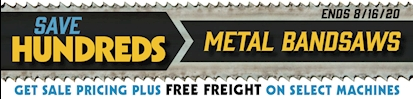Metal Bandsaw Sale