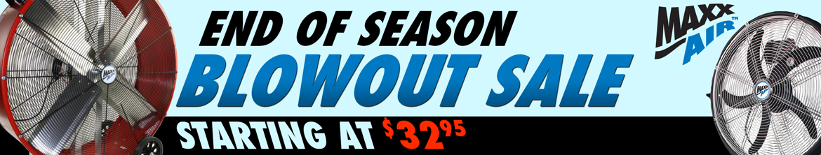 End of Season Blowout Sale
