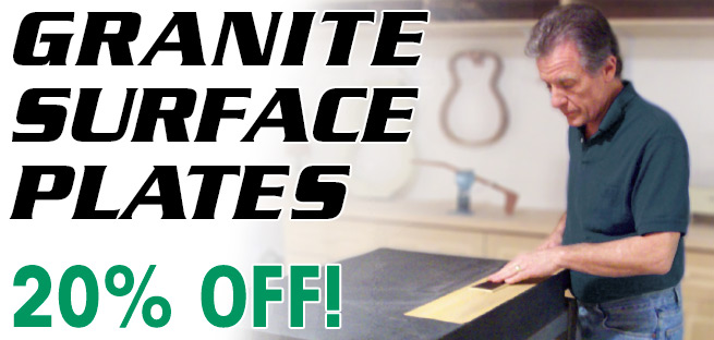 Granite Surface Plates are 20% Off
