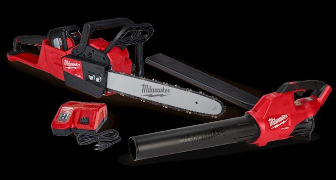 Milwaukee Outdoor Bundle Chainsaw Free Blower