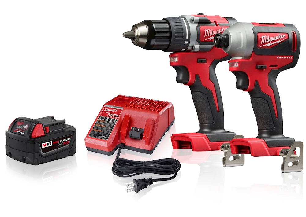 Milwaukee Driver Bundle Brushless Impact Driver Compact Brushless Drill Driver