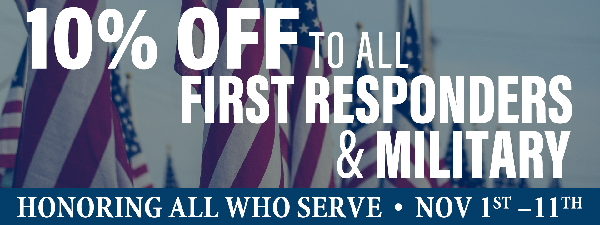 Veterans Day 10 Percent Off