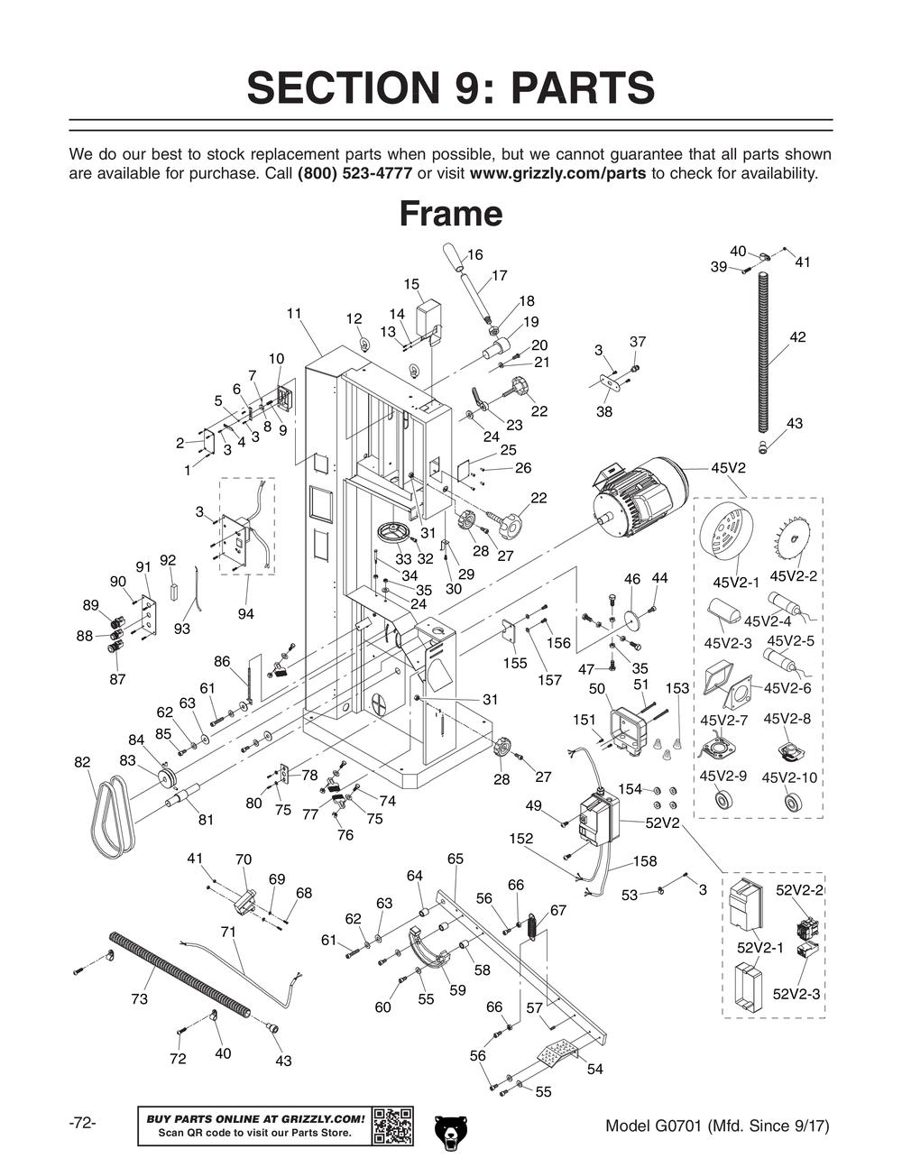 Shop Tools And Machinery At Band Saw Wiring Diagrams G0701 19 Ultimate Bandsaw