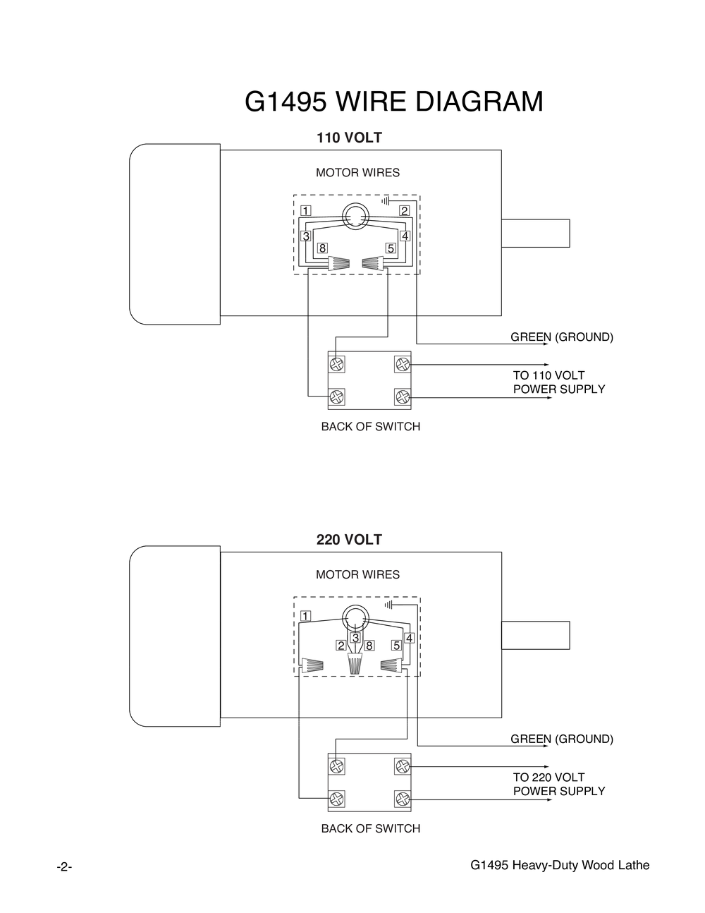 shop tools and machinery at grizzly com Motor Control Wiring Diagrams if you cannot locate your part below, please contact our tech support department at techsupport@grizzly com or 570 546 9663