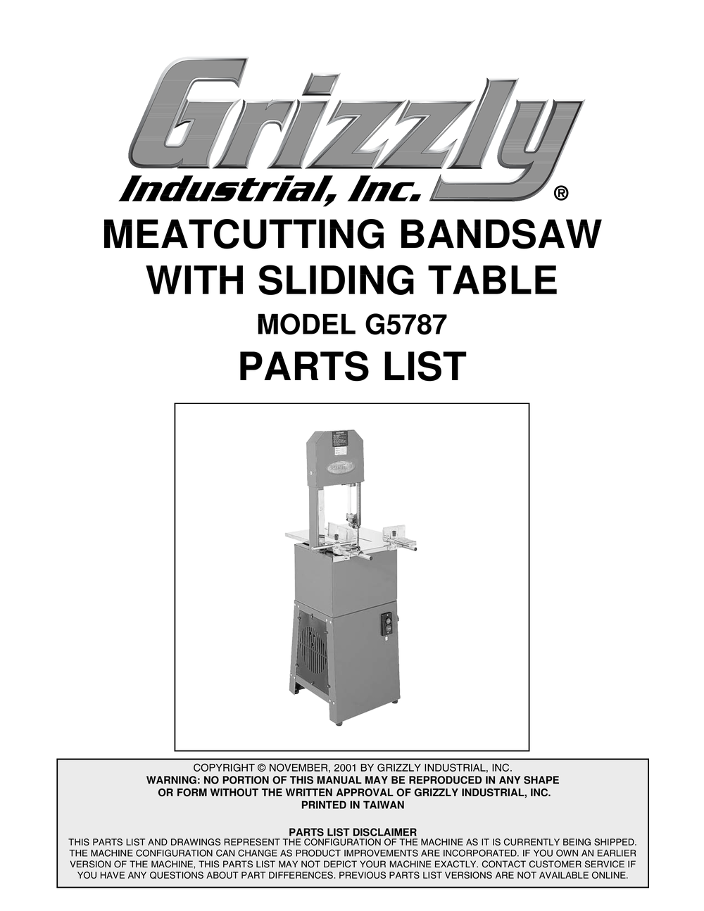 By billupsforcongress Grizzly Bandsaw Parts List