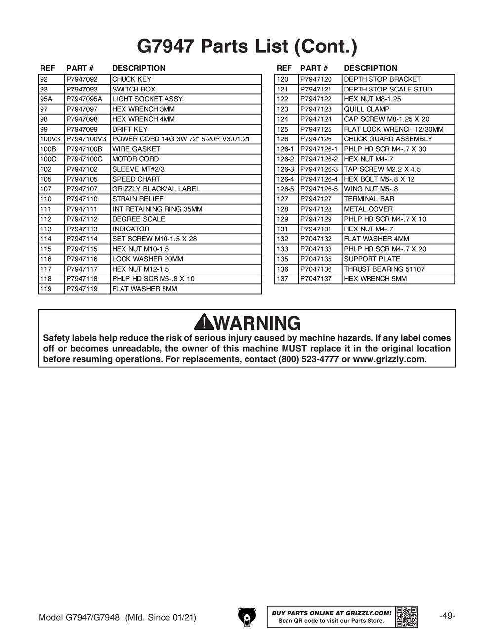 key insert drill chart