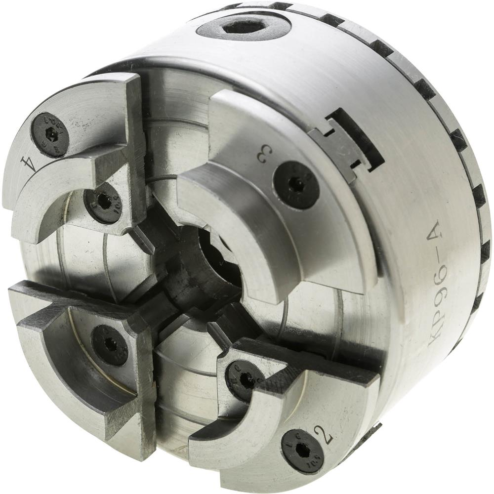 """Grizzly G9831 6/"""" 3-Jaw Plain Back Scroll Chuck"""