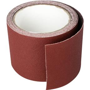 "3"" x 10' A/O Sanding Roll 100 Grit Cloth"