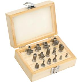 "Router Bit 15 Pc. Set, 1/2"" Shank"