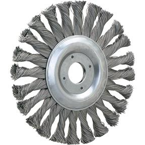 "5"" Knotted Steel Wire Brush Wheel"