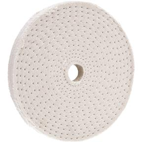 "4"" x 30 Ply x 1/2"" Spiral Sewn Buff Wheel, 5,000 RPM"