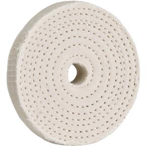 "3"" x 40 Ply x 1/2"" Spiral Sewn Buff Wheel, 5,000 RPM"