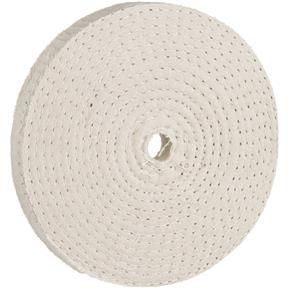 "5"" x 60 Ply x 1/2"" Spiral Sewn Buff Wheel, 5,000 RPM"