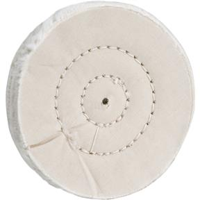 "4"" x 40 Ply x 1/4"" Soft Muslin Buffing Wheel, 5,000 RPM"