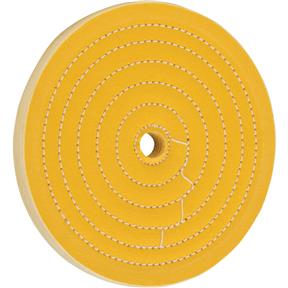 "6"" x 50 Ply x 1/2"" Loose Muslin Hard Buff Wheel, 5,000 RPM"