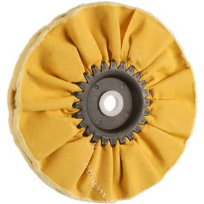"6"" x 12 Ply x 1/2"" Airway Hard Buff Wheel, 3500 RPM"