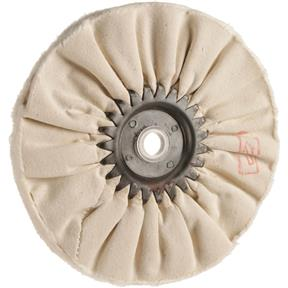 "6"" x 12 Ply x 1/2"" Airway Soft Buff Wheel, 3500 RPM"