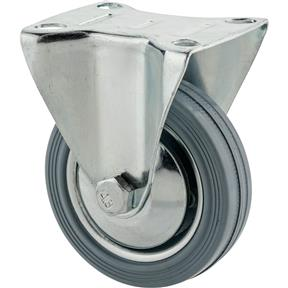 "3"" Gray Industrial Fixed Caster"