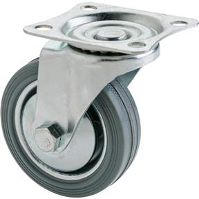 "3"" Gray Industrial Swivel Caster"