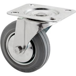"4"" Gray Industrial Swivel Caster"